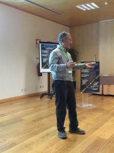 PhD Angel Carracedo during his scientific report. Photo of ProteoMass Scientific Society
