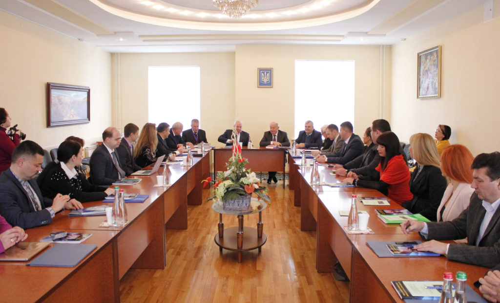 Participants of Round table, devoted to 100th anniversary of Prof. M. Saltevskiy